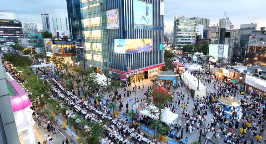 Calle Yonsei-ro sin coches (Ayuntamiento de Seodaemun)
