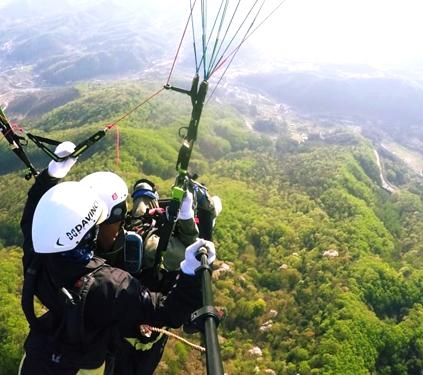 Parapente en los Deportes Aéreos Mirae de Yangpyeong (cortesía de Deportes Aéreos Mirae de Yangpyeong)