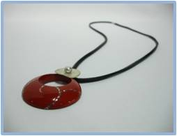 Lacquer Necklace (Silver)