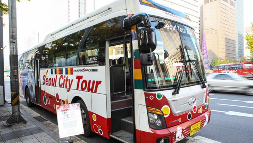 Внешний вид туристического автобуса по Сеулу