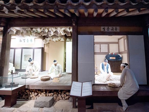 조선시대 한약방을 구현한 세트장