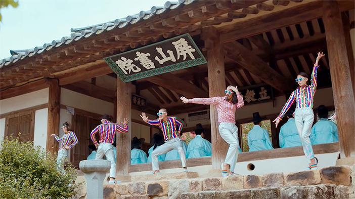 "Scène du clip ""Feel the Rhythm of KOREA: ANDONG"""