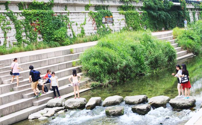 夏の清渓川