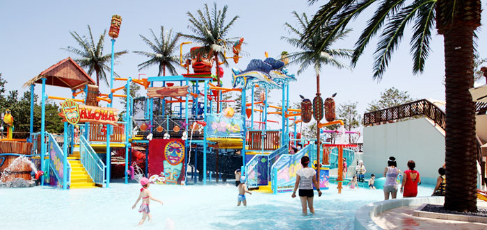 Water park facilities at Seorak Waterpia (Credit: Hanhwa Resort)