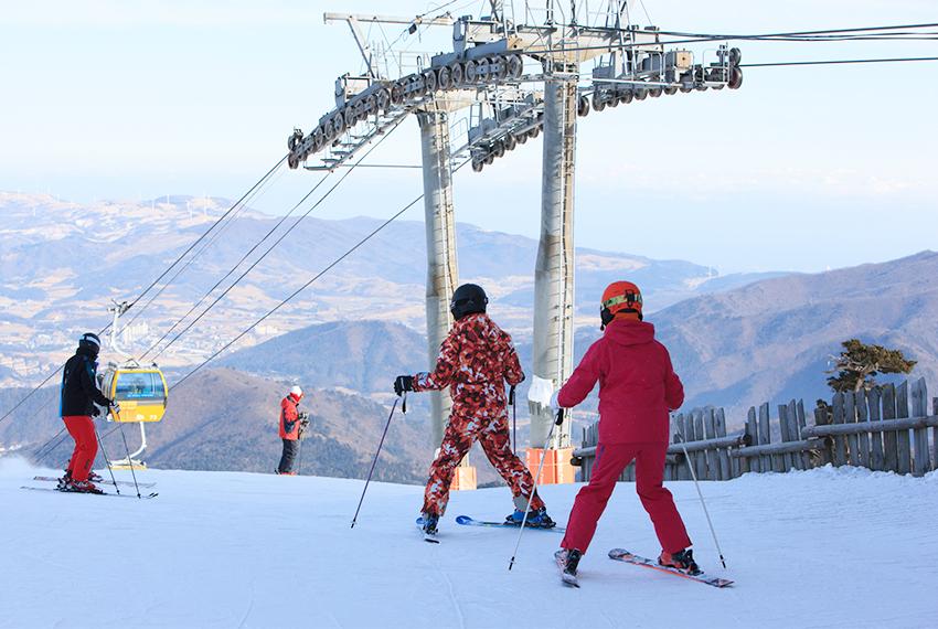 Postura básica para esquiar.