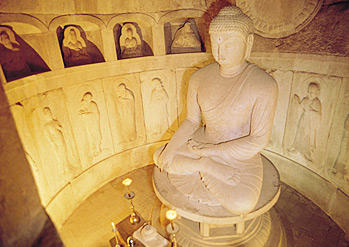 Interior views of Seokguram Grotto