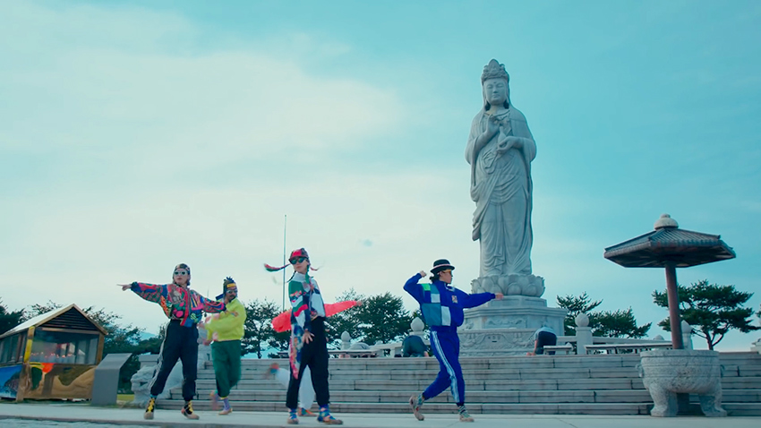 "Escenas del templo Naksansa, que sale en el video de Gangneung de ""<em>Feel the Rhythm of KOREA</em>"""