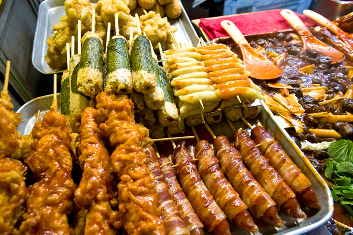 Street food from food stalls