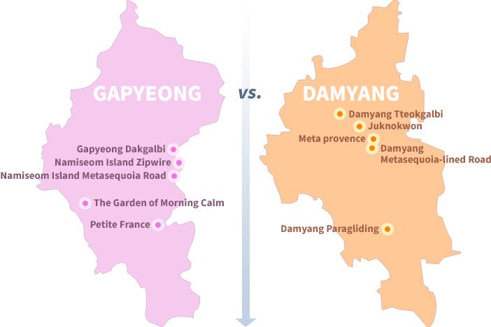 The Garden of Morning Calm (left) / Juknokwon (right)