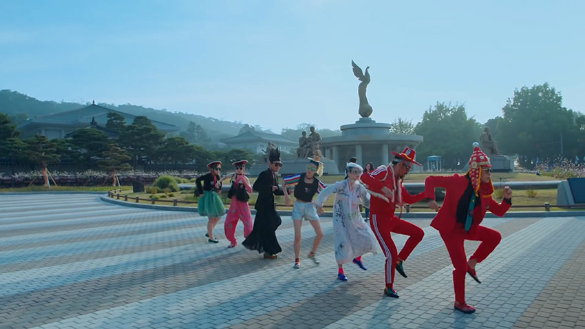 """Vistas de la Casa Azul Cheongwadae en el video de Seúl de """"Feel the Rhythm of KOREA"""""""