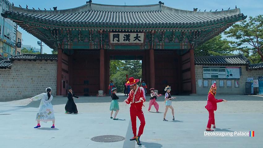 """Escenas de la puerta Daehanmun del palacio Deoksugung en el video de Seúl de """"Feel the Rhythm of KOREA"""""""
