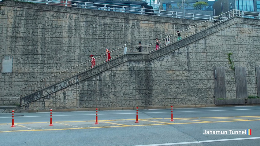 「感受韓國律動節奏 Feel the rhythm of Korea:首爾篇」中登場的紫霞門隧道與台階
