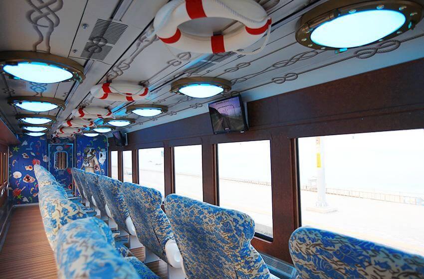 Interior del Tren del Mar (cortesía de KORAIL, todas las fotos).