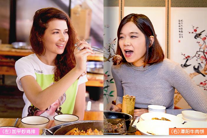 (左)潭阳牛肉饼, (右)加平炒鸡排