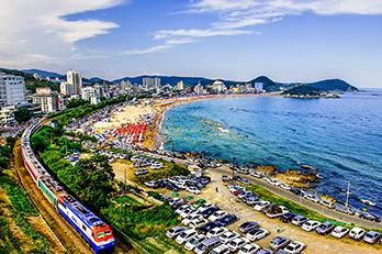 松亭海水浴場の風景