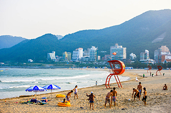 照片) 松亭海水浴场风景