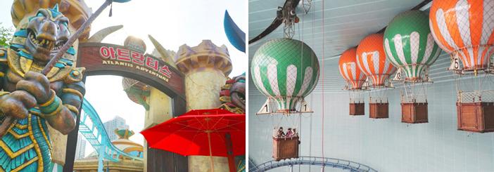 Attraction typique du parc Lotte World