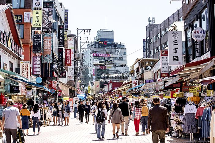 Straße in Hongdae