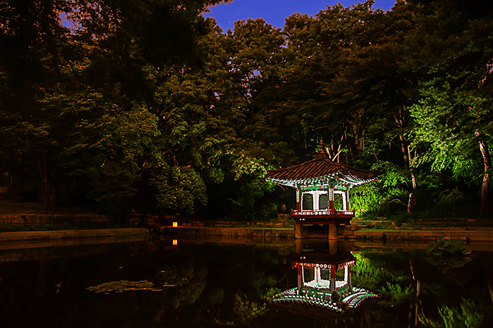 Aeryeonji Pond and Aeryeongjeong Pavilion (credit: Korea Cultural Heritage Foundation)
