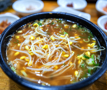 Gukbap aux germes de soja