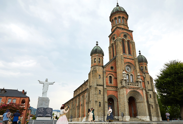 Exterior of Jeondong Catholic Cathedral