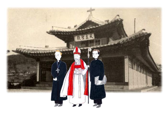建設初期の聖公会江華聖堂。写真提供=仁川市
