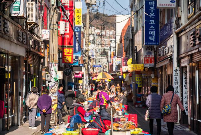 韓国の伝統市場