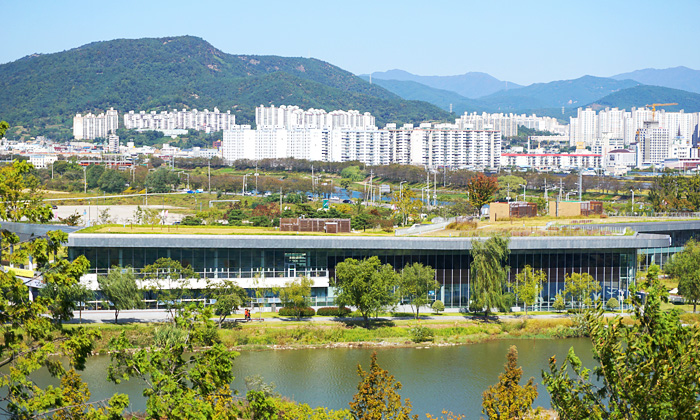 Vista panorámica del Centro Internacional de Humedales de la Bahía de Suncheonman.