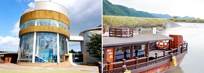 Observatorio de la Bahía de Suncheonman (izquierda) / Bote Ecológico (derecha).