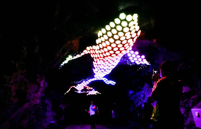 L'espace de la lumière (aut: Grottes Gwangmyeong)