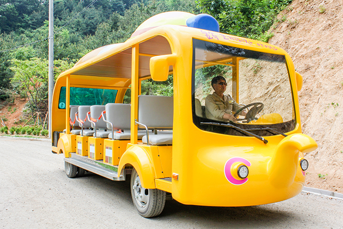 Автобус-шаттл Слоник до пещеры Кванмён