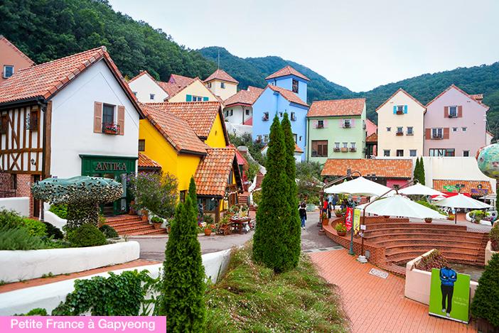 (en haut) Pettite France à Gapyeong, (en bas) Meta Provence à Damyang,