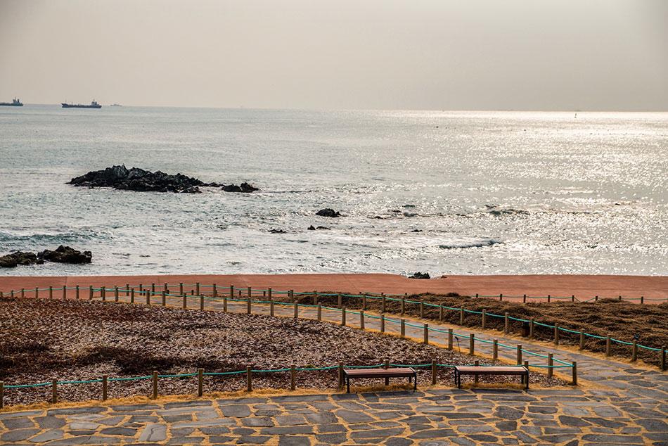 (上) 釜山The Ananti Cove 前Galmaet-gil, (下) 釜山作家的艺术作品 (提供: eternaljourney_life 照片墙帐号 (左下))