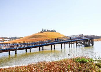 順天湾国家庭園の全景