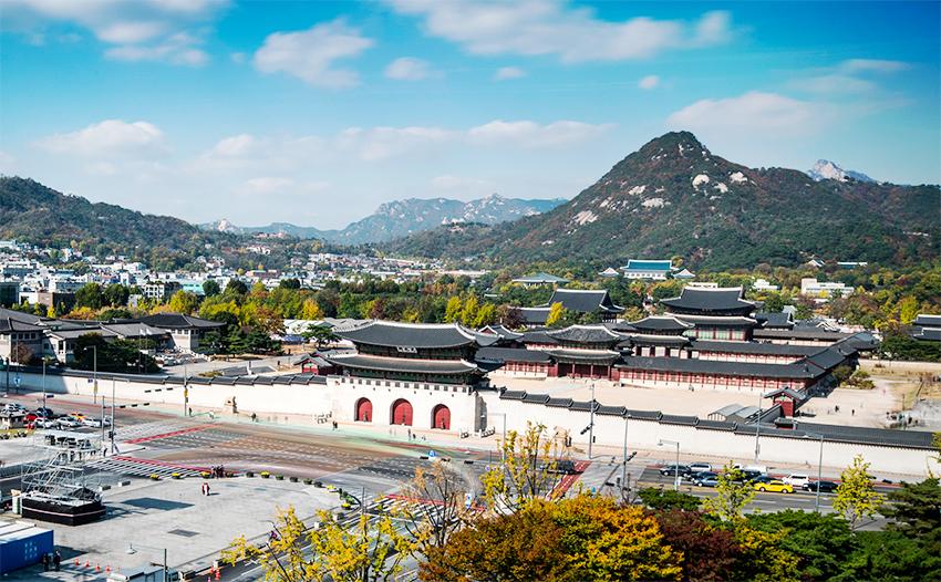 Vista de los alrededores del palacio Gyeongbokgung.