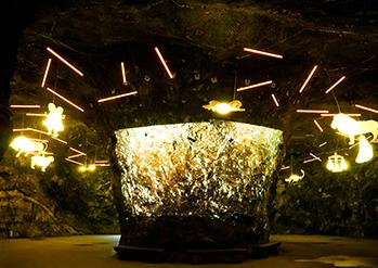 Photo: Uniquely decorated cave interior