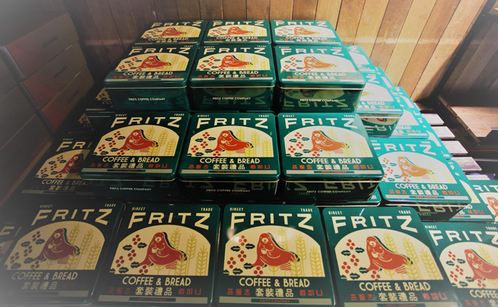 Fritz Coffee's Stollen boxes