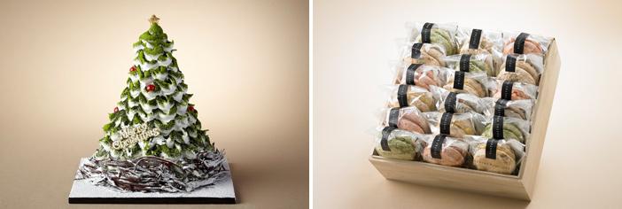 Торт White Holiday и дакуаз (снизу) (Источник: Shilla Hotel (все))
