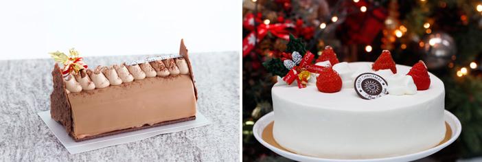 Торт Chocolat Bergamot и рождественский торт со взбитыми сливками (снизу) (Источник: Отель Banyan Tree Club & Spa Seoul (все))