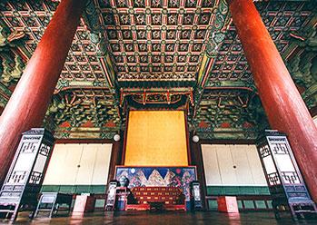 Inside view of Injeongjeon Hall