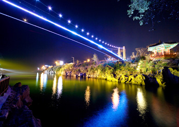 Yongyeon Cloud Bridge at night