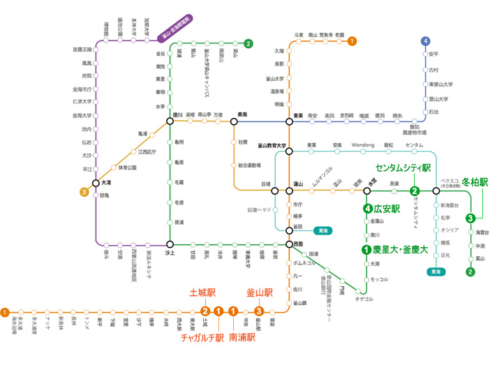 Busan Subway Map