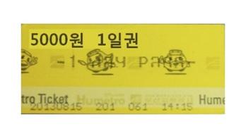 Pase de metro de Busan de 1 día (Cortesía de la Corporación de Transporte de Busan)