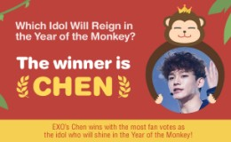 <strong>[Poll] EXO′s Chen Named Top Idol in the Year of the Monkey</strong>