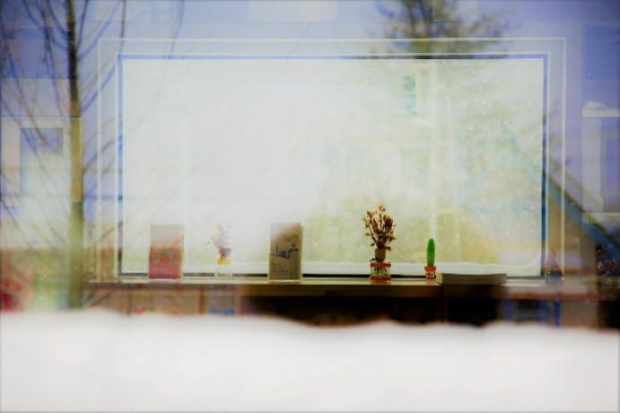 金裕貞站的冬日景色