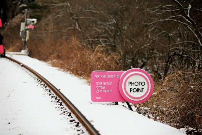 江村鐵路自行車風景