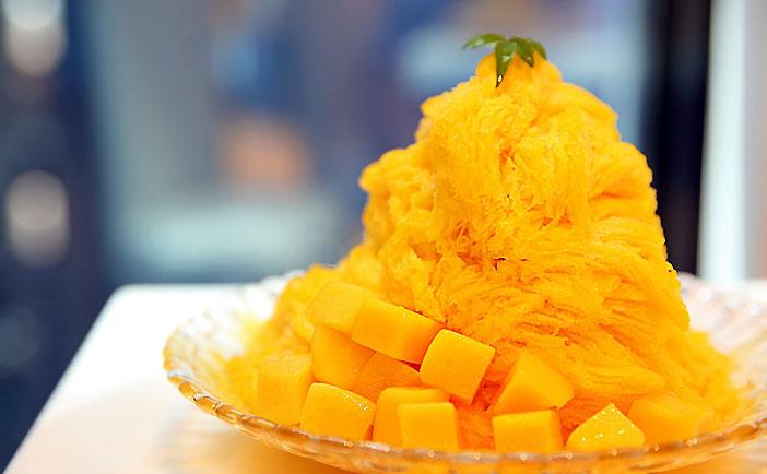 Bingsu de mango.