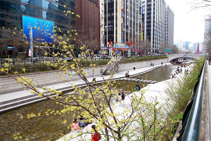 Wasserlauf Cheonggyecheon