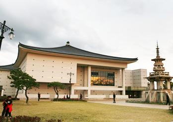 国立慶州博物館の外観と館内