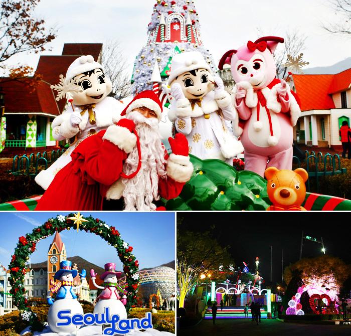 首尔乐园圣诞节庆典风景(首尔乐园提供)